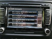 Genuine vw rns510 sat nav cd dvd player stereo
