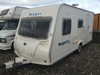Bailey ranger 4 berth 2008-7 modell 16-17 ft light wait lovely condition electric heating system