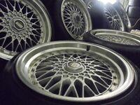 """18"""" BBS staggerd ALLOYS deep dish wheels bora seat leon fr audi vw golf t3 a3 caddy t4 tt camper"""