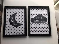 Kids room decor posters with frame A4 size