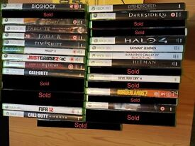 xbox 360 games collection for sale.