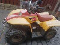 50cc quad and helmet, with trailer