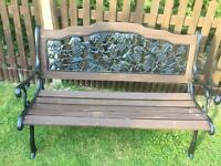 Ornate cast iron garden bench