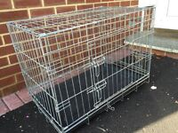 Dog Transporter Cage NEW.. Folds Flat when not in use