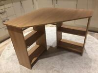 Oak Effect Corner Desk Unit
