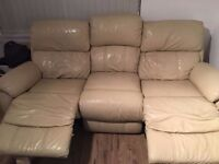Leather Sofa for sale. 3 and a 2 both Recliner