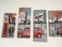Banksy, SET OF 4 CANVAS
