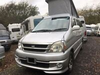 2000 TOYOTA HIACE REGIUS 2.7 PETROL 4 BERTH CAMPERVAN NEW SIDE CONVERSION POP