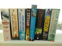 Fiction books X 8 Dan Brown The Da Vinci Code Lord of the Rings John Grisham