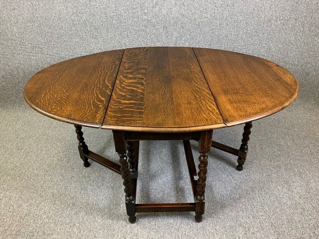 Brilliant Oak Barley Twist Dining Table Drop Leaf Gate Leg 1930S 40 S Antique Oval Table Delivery Available In Winterton Lincolnshire Gumtree Home Interior And Landscaping Oversignezvosmurscom