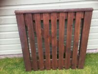 Lovely old-fashioned stained & varnished gate hand made 1980 indoor/outdoor CR5 Coulsdon nr Croydon