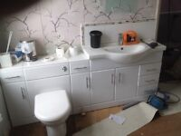 Bathroom unit - toilet and sink