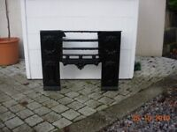 Regency cast Iron fire place with grate
