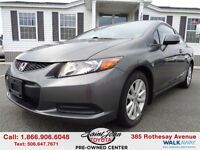 2012 Honda Civic EX-L W/ Leather + Nav $119.76 BI WEEKLY!!!