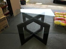 NEXT glass dining table
