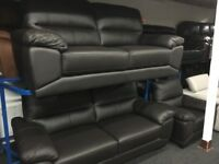 New/Ex Display ScS Leather 3 + 3 Seater Sofas