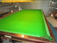Snooker pool table cloth
