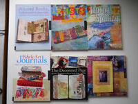 Collection of Six Altered Art / Artists Journal / Mixed Media Books