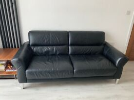 DFS leather sofa 3 seater