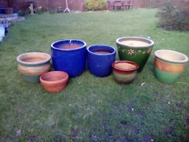 Great selection of garden plant pots