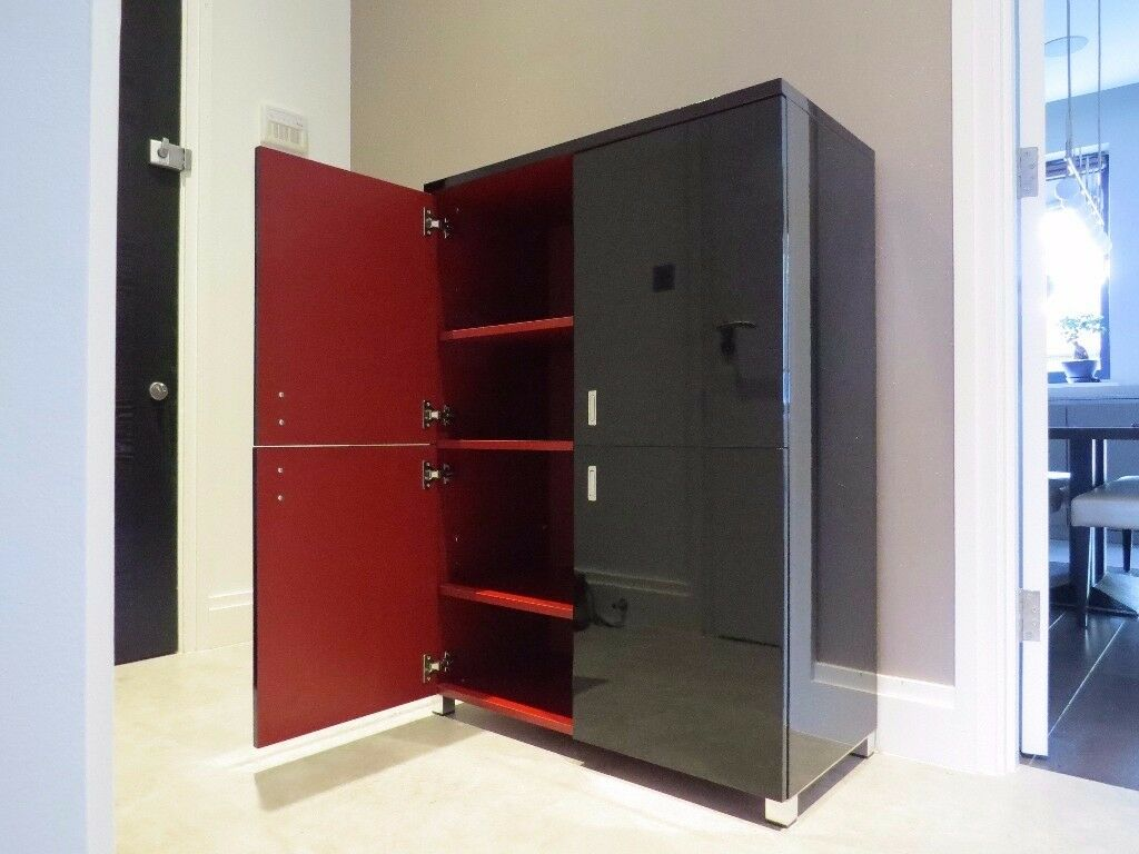Gloss black storage cabinet for sale