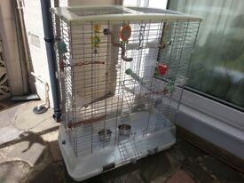 Large Vision Bird Cage with all the accessories , BARGAIN.
