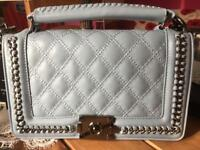 Brand new ladies pale blue handbag from the wheat package company