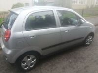 Silver Chevrolet Matiz with good mileage and recent MOT (June 2017)