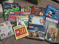 Collection of boys books.