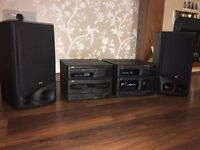 JVC CA-S50RBK component system with speakers and manual
