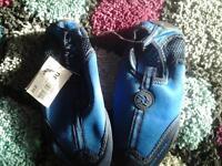 new blue swim shoes size 12 child £1
