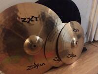 Zildjian ZXT hi hat & ride + free cymbal bag