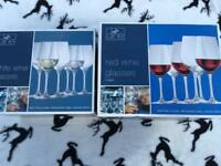 Red and white wine glasses boxed 6 each