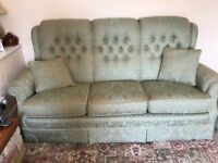 Pale green suite, immaculate, bought from Barbours for £3,500. Would like £450