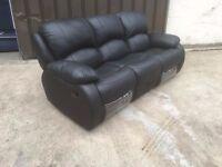 sofa set - brand new - delivered - recliner suite - black - brown - red