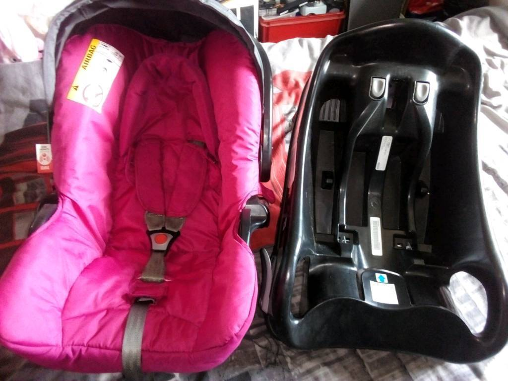GRACO BABY CAR SEAT CARSEAT WITH FIXING BASE HEAD HUGGER SIDE IMPACT PROTECTION
