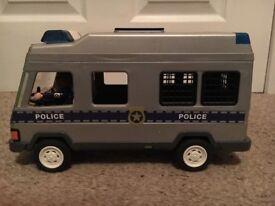 Toy Police Van, Play Mobil, police men & weapons