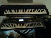 Yamaha mm6, Roland Juno D, & Korg Kross keyboards for sale