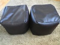 STUNNING!!! 2 Faux Leather Footstools!!