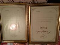 2 gold unwanted unused a4 frames