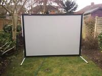 Da lite deluxe 8 x 6 ft fast fold projection screen with dual projection surface