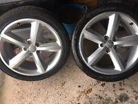 """2 Audi Alloy Wheels 18"""""""