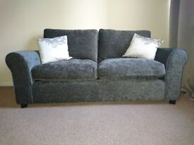 Dark blue/grey 2 and 3 seater couches for sale (nearly new)