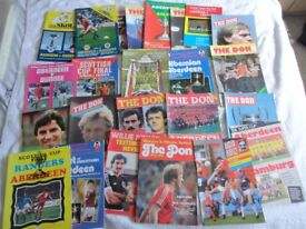 Football programmes for sale, Mainly Aberdeen some, Scotland, English, Highland League 1000s