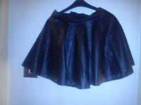Girls black leather skirt