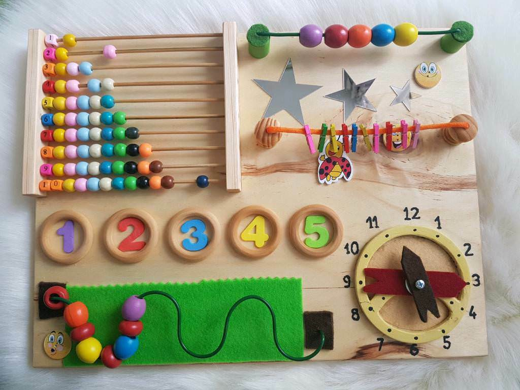 Handmade Educational Sensory Activity Busy Board Boy or Girl Gift Montessori