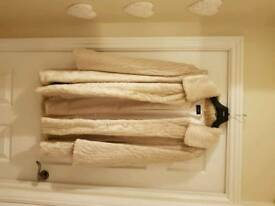 Brand new Cream/ mink faux fur Jacket size 16