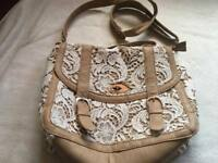New look ladies shoulder bag brown beige used few times £5