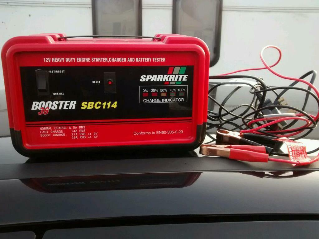 Sparkrite 12v 8 Amp Battery Charger 36 Amp Battery Booster