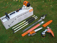 Delivery £24 Used Stihl KM130 Hedge Trimmer Chainsaw Pruner Strimmer Combi